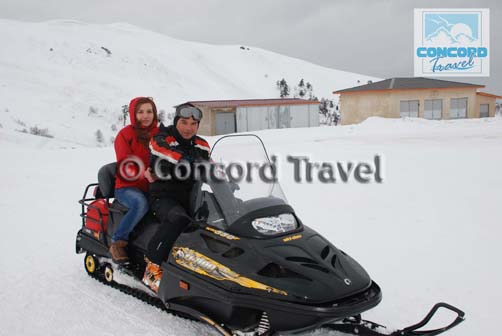 Snowmobile Tour in Bakuriani